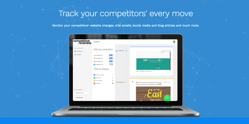 Competitive Business - 75% Off ($360 / Year) to Monitor 4 Competitors (Stackable)